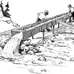 Modern mining with a long tom or sluice
