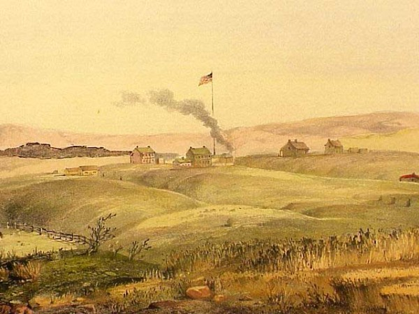 Benicia Barracks in 1850