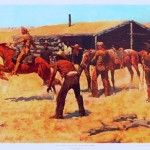 Coming and Going of the Pony Express by Frederic Remington