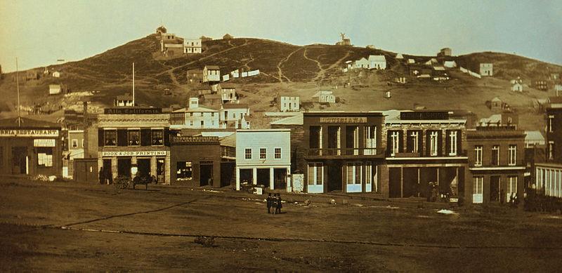 gold rush australia 1851. Portsmouth Square 1851