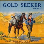 A Gold Seeker brand citrus label