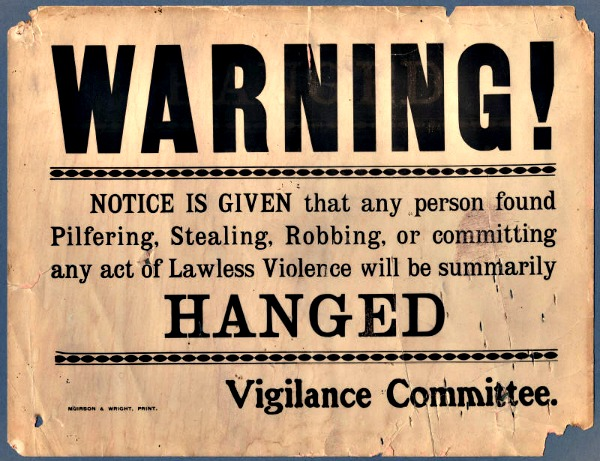 Vigilance Committee warning