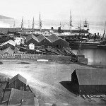 Pacific Mail docks, San Francisco 1880s