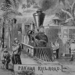 Train on the Panama Railroad