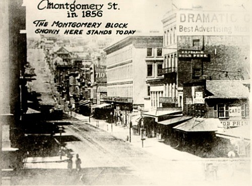 Montgomery Street, SF, 1856