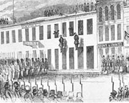 The hanging of James Casey and Charles Cora