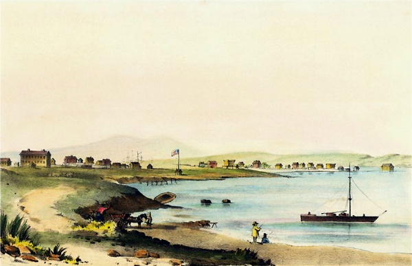 Benicia from the west 1856