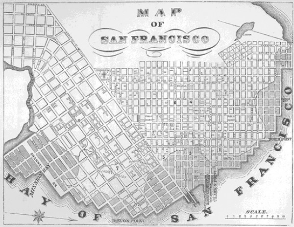Map of San Francisco 1855