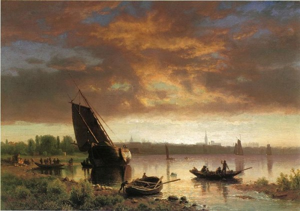 Harbor Scene by Albert Bierstadt