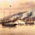 The bombardment of Muckie by the USS John Adams