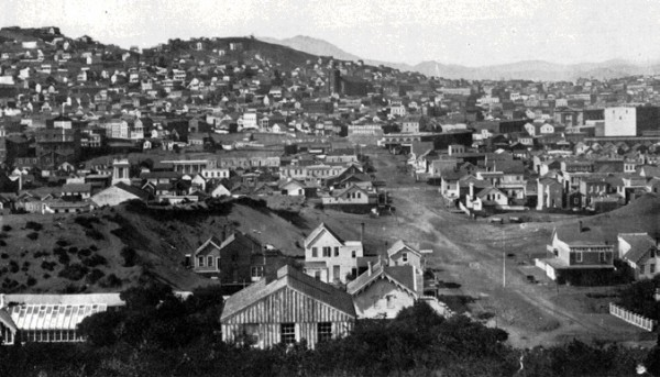San Francisco from Rincon Hill in 1856