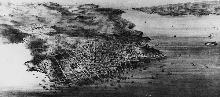 San Francisco from above - 1854