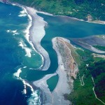 The mouth of the Klamath River