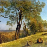 Landscape Rockland County by Albert Bierstadt