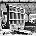 A stamp mill to process gold ore